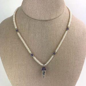 Mignon Faget Sno Ball Pendant Pearl Necklace